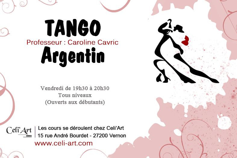 Cours Tango Argentin - Celi'Art - Vernon Pacy sur Eure Gaillon Evreux 27
