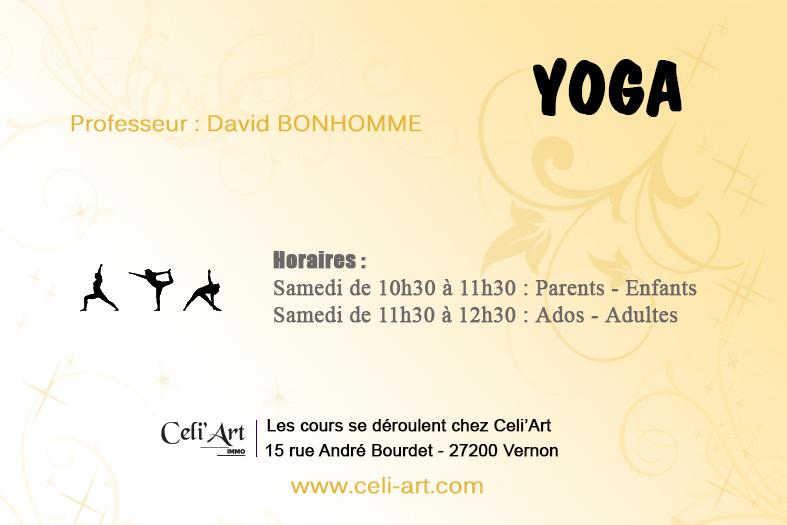Cours Yoga Celi'Art Vernon Pacy sur Eure Gaillon 27