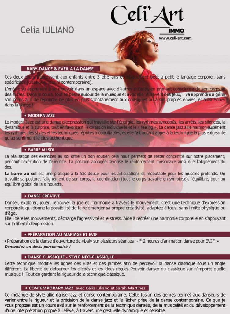 Planning Ecole de danse Celiart Modern'Jazz et Classique 2021-2022 - Vernon St Marcel 27